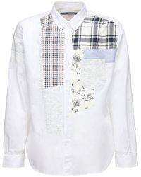Junya Watanabe コットン&リネンシャンブレーシャツ - ホワイト