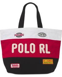 Polo Ralph Lauren - Сумка-тоут Из Хлопкового Канваса - Lyst