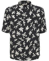 Saint Laurent - Floral シルクシャツ - Lyst