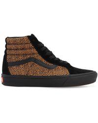 Vans Comfycush Tiny Cheetah Sk8-hi Reissue Trainers - Black