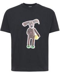 Jacquemus Le Toutou コットンジャージーtシャツ - ブラック