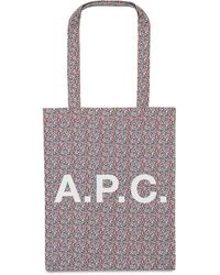 A.P.C. Liberty コットンキャンバストートバッグ - レッド