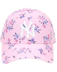 """KTZ Casquette Florale """"9forty New York Yankees"""" - Rose"""