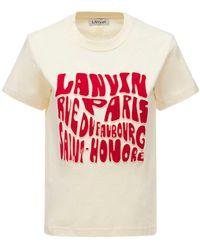 Lanvin コットンジャージーtシャツ - レッド