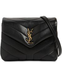 "Saint Laurent Borsa Mini ""Toy Loulou"" In Pelle Con Logo - Nero"