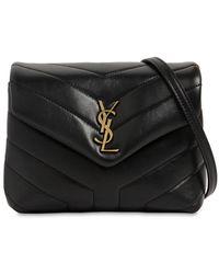 Saint Laurent Toy Loulou Monogram Leather Bag - Black