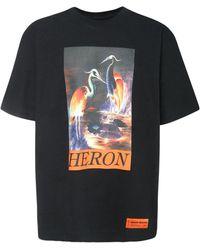 Heron Preston Футболка Из Хлопкового Джерси С Принтом - Черный