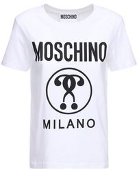 Moschino - Футболка Из Хлопкового Джерси - Lyst