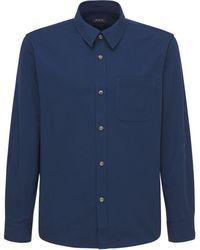 A.P.C. コットンキャンバスシャツ - ブルー