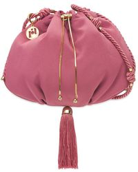 Rosantica Monella サテンショルダーバッグ - ピンク
