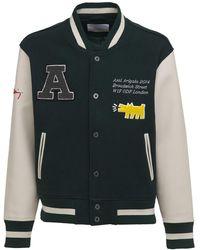 Axel Arigato Keith Haring Varsity Bomber Jacket - Green