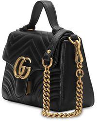 """Gucci Mini Handtasche Aus Leder """"gg Marmont"""" - Schwarz"""