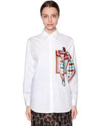 Marco De Vincenzo スカーフ付き コットンポプリンシャツ - ホワイト