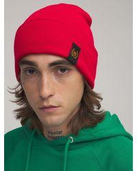 BEL-AIR ATHLETICS Academy Crest Beanie Hat - Red