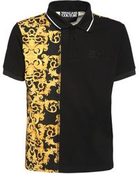 Versace Jeans Couture コットンポロシャツ - ブラック