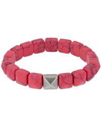 Isabel Marant Bracelet En Perles De Résine - Rose