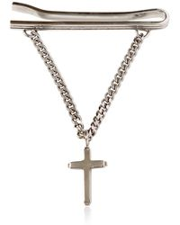Givenchy | Cross Charm Metal Tie Clip | Lyst