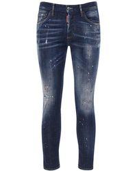 DSquared² 16.5cm Skinny Dan Stretch Jeans - Blue