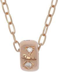 Pomellato Iconica 18kt & Diamond Charm Necklace - Metallic