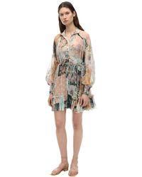 Zimmermann Короткое Платье С Принтом - Многоцветный