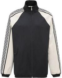 Gucci Куртка Из Хлопкового Джерси - Черный