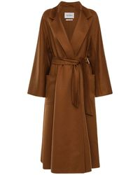 "Max Mara Cappotto ""labbro"" In Cashmere - Brown"