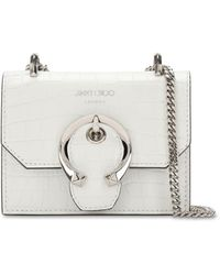 "Jimmy Choo Petit Sac En Cuir Estampé Crocodile ""Paris"" - Multicolore"