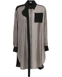 Loewe ストライプツイルマキシシャツ - ブラック