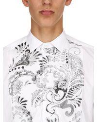 Etro Besticktes Hemd Aus Baumwollpopeline - Weiß