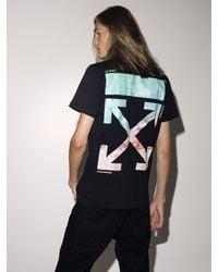 Off-White c/o Virgil Abloh Lvr Exclusive Printed Cotton T-shirt - Black