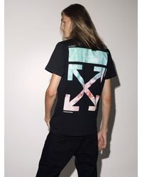 "Off-White c/o Virgil Abloh Camiseta ""Lvr Exclusive"" De Algodón Estampado - Negro"