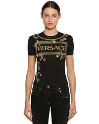 Versace - コットンジャージーtシャツ - Lyst