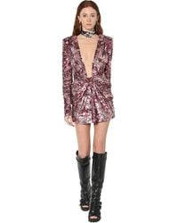 DSquared² Sequined Mini Dress - Pink