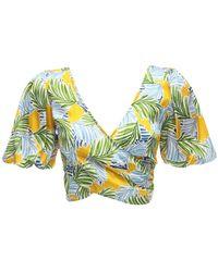 "Bec & Bridge Minikleid Aus Stretch-satin ""palm Paradise"" - Mehrfarbig"