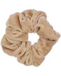 Sophie Buhai Small Silk Velvet Scrunchie - Естественный