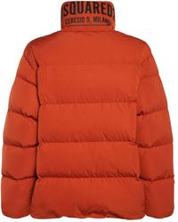 DSquared² Ceresio 9 Print Tech Down Jacket - Orange
