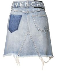 Givenchy - コットンデニムミニスカート - Lyst