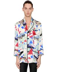 Garçons Infideles - Viscose & Silk Satin Pyjama Shirt - Lyst