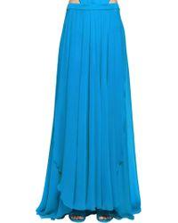 Elie Saab - Lvr Edition Crepe Georgette Long Skirt - Lyst