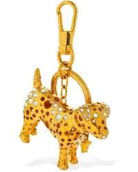 Versace Audry Charm Key Holder W/ Crystals - Mettallic