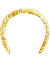 Versace Printed Headband - White