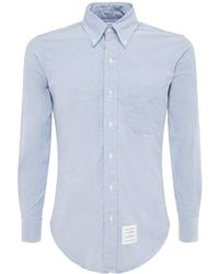Thom Browne Рубашка Из Хлопка Оксфорд С Деталями Из Гросгрейна - Многоцветный