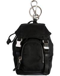 "Prada Llavero ""backpack"" De Nylon - Negro"