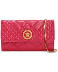 Versace Icon Quilted Patent Leather Shoulder Bag - Multicolor