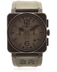 "Bell & Ross Reloj Cronógrafo Deacero Pvd ""br 03-94"" - Gris"