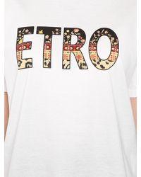 Etro - オーバーサイズ コットンジャージーtシャツ - Lyst