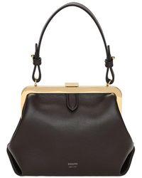 Khaite Small Agnes Leather Top Handle Bag - Black
