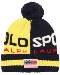 Polo Ralph Lauren Strickmütze Aus Wollmischung - Gelb