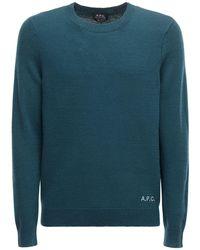 A.P.C. ウールニットセーター - ブルー