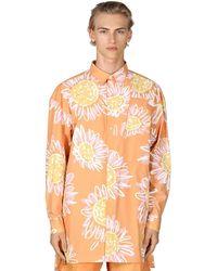 Jacquemus Рубашка Из Хлопка Поплин - Оранжевый